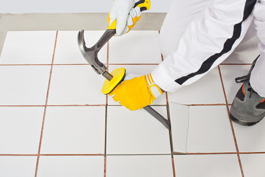 tile removal process explained north  dallas tx