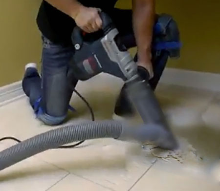 DustFree Tile Removal in Paris with Dust Commander