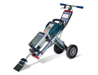 The Makinex tile jackhammer trolley product sold by Dust Commander.