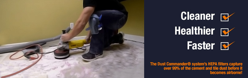 DustFree Tile Removal In Bedford With Dust Commander - Cleaning dust after tile removal