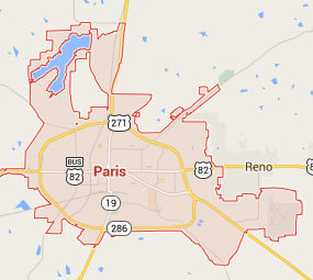 Dust Free Tile Removal And Replacement In Paris TX Dust Commander - Paris texas map